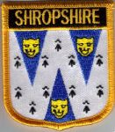 Shropshire Embroidered Flag Patch, style 07.